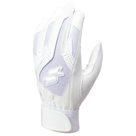 SSKBASEBALL高校野球対応シングルバンド手袋(両手) ホワイト
