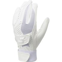 高校野球対応ダブルバンド手袋(両手) ホワイト