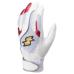 SSKBASEBALL一般用シングルバンド手袋(両手) ホワイト×ピンク×シルバー