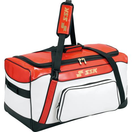 SSKBASEBALLヘルメット兼キャッチャー用具ケース ホワイト×レッド