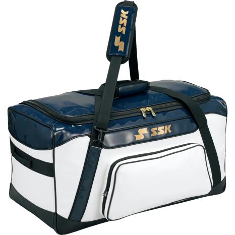 SSKBASEBALLヘルメット兼キャッチャー用具ケース ホワイト×ネイビー