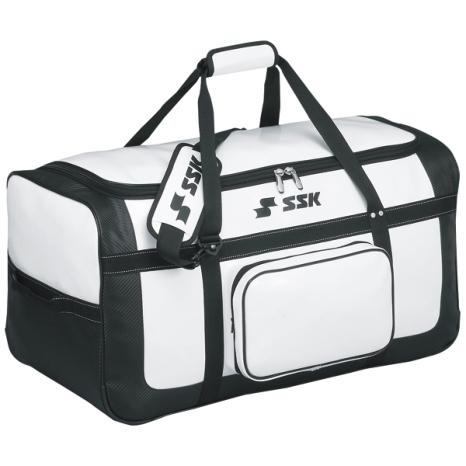 SSKBASEBALLヘルメット兼キャッチャー用具ケース ホワイト×ブラック