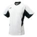 SSKBASEBALL2 ボタンベースボールT シャツ ホワイトXブラック