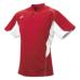 SSKBASEBALL2 ボタンベースボールT シャツ レッドXホワイト