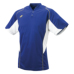 SSKBASEBALL2 ボタンベースボールT シャツ DブルーXホワイト
