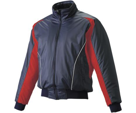 SSKBASEBALL蓄熱グラウンドコート フロントフルZIP(中綿) ネイビー×レッド×ホワイト