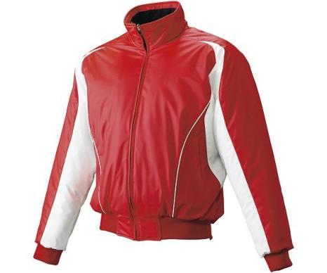 SSKBASEBALLジュニア 蓄熱グラウンドコート フロントフルZIP(中綿) レッド×ホワイト×ホワイト