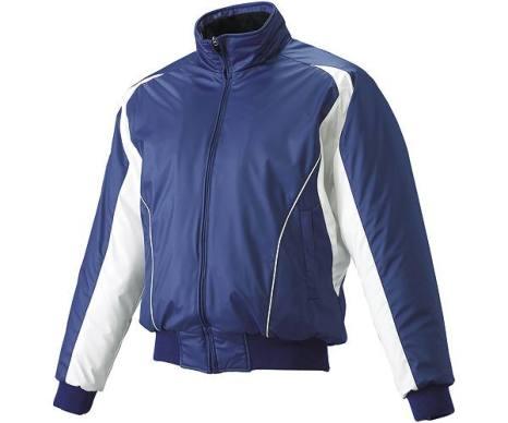 SSKBASEBALLジュニア 蓄熱グラウンドコート フロントフルZIP(中綿) Dブルー×ホワイト×ホワイト