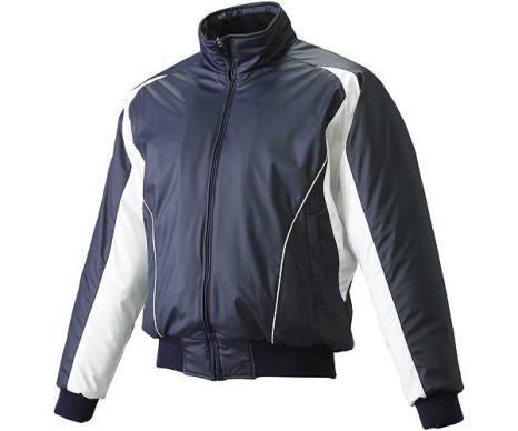 SSKBASEBALLジュニア 蓄熱グラウンドコート フロントフルZIP(中綿) ネイビー×ホワイト×ホワイト