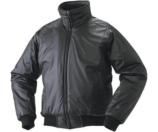 SSKBASEBALLジュニア 蓄熱グラウンドコート フロントフルZIP(中綿) ブラック