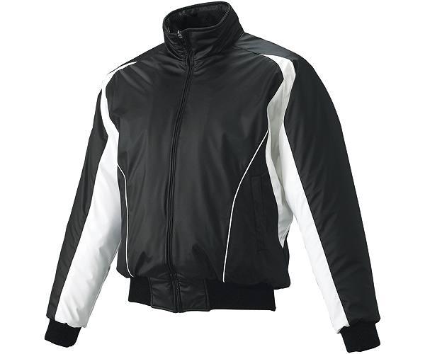 SSKBASEBALLジュニア 蓄熱グラウンドコート フロントフルZIP(中綿) ブラック×ホワイト×ホワイト