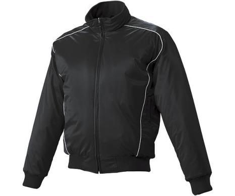 SSKBASEBALL蓄熱グラウンドコート フロントフルZIP(中綿) ブラック×ホワイト