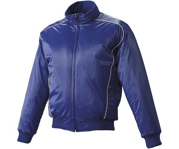 SSKBASEBALLジュニア 蓄熱グラウンドコート フロントフルZIP(中綿) Dブルー×ホワイト