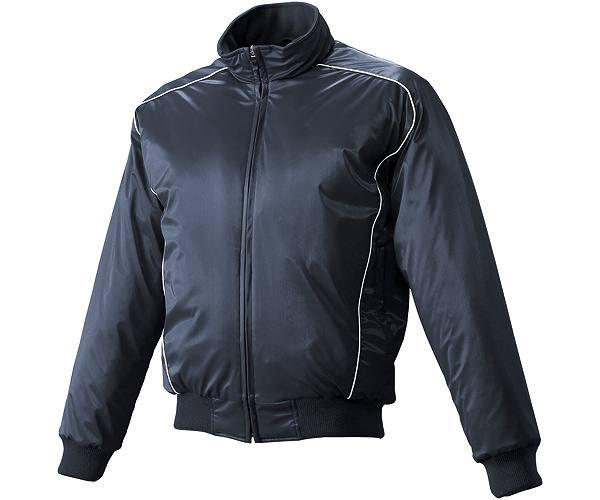 SSKBASEBALLジュニア 蓄熱グラウンドコート フロントフルZIP(中綿) ネイビー×ホワイト