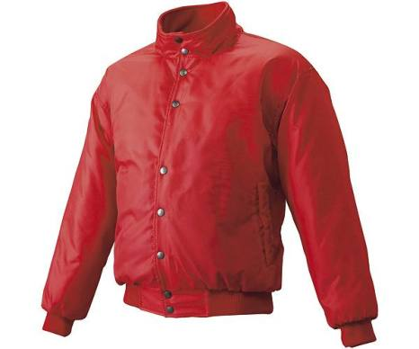 SSKBASEBALLジュニア グラウンドコート フロントボタン(中綿) レッド