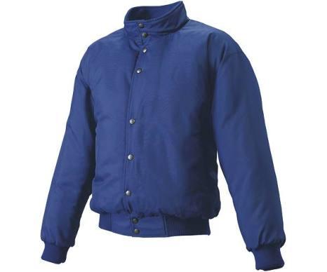 SSKBASEBALLジュニア グラウンドコート フロントボタン(中綿) Dブルー