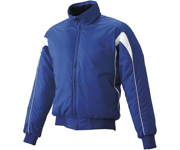 SSKBASEBALLジュニア グラウンドコート フロントフルZIP(中綿) Dブルー×ホワイト