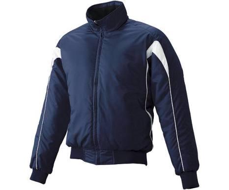 SSKBASEBALLジュニア グラウンドコート フロントフルZIP(中綿) ネイビー×ホワイト