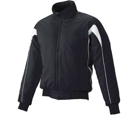 SSKBASEBALLジュニア グラウンドコート フロントフルZIP(中綿) ブラック×ホワイト