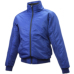 ジュニア グラウンドコート フロントフルZIP(中綿) Dブルー