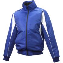ジュニア グラウンドコート フロントフルZIP(中綿) Dブルー×ホワイト