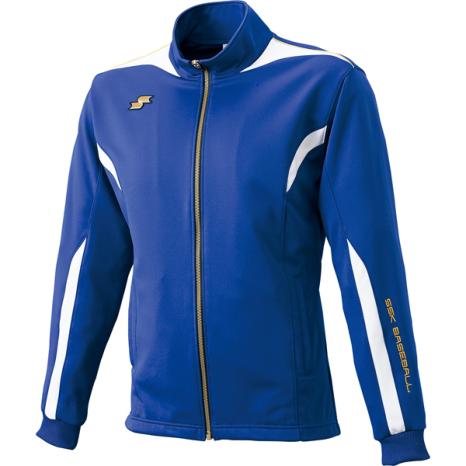 SSKBASEBALLフルジップジャケット Dブルー×ホワイト×ゴールド