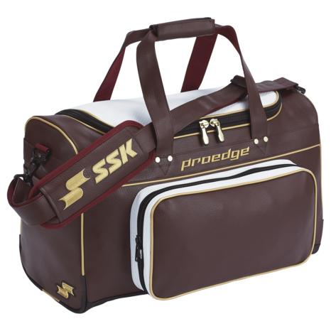 SSKBASEBALL【proedge(プロエッジ)】ショルダーバッグ(51L) エンジ×ゴールド