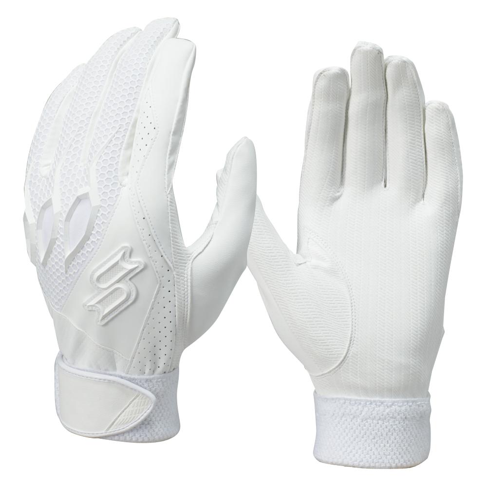 SSKBASEBALL【proedge(プロエッジ)】高校野球対応シングルバンド手袋(両手) ホワイト