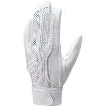 【proedge(プロエッジ)】高校野球対応シングルバンド手袋(両手) ホワイト