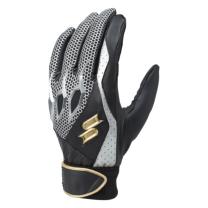 SSKBASEBALL【proedge(プロエッジ)】一般用シングルバンド手袋(両手) ブラック×ブラック