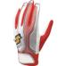 【proedge(プロエッジ)】一般用シングルバンド手袋(両手) ホワイト×レッド×シルバー