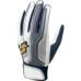 【proedge(プロエッジ)】一般用シングルバンド手袋(両手) ホワイト×ネイビー×シルバー