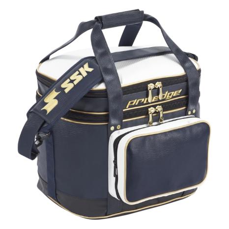 SSKBASEBALL【proedge(プロエッジ)】ボールバッグ(43L) ネイビー×ゴールド