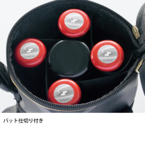 SSKBASEBALL【proedge(プロエッジ)】バットケース(5本用) ブラック×ゴールド