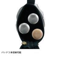 SSKBASEBALL【proedge(プロエッジ)】バットケース(2-3本用) ブラック×ゴールド