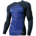 【proedge(プロエッジ)】トレーニングインナーシャツ ネイビー×VブルーTC