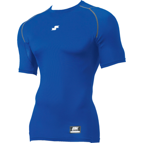 SSKBASEBALLSCβやわらかローネック半袖フィットアンダーシャツ Dブルー