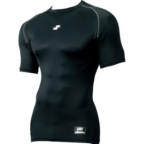 SSKBASEBALLジュニアSCβやわらかローネック半袖フィットアンダーシャツ ブラック