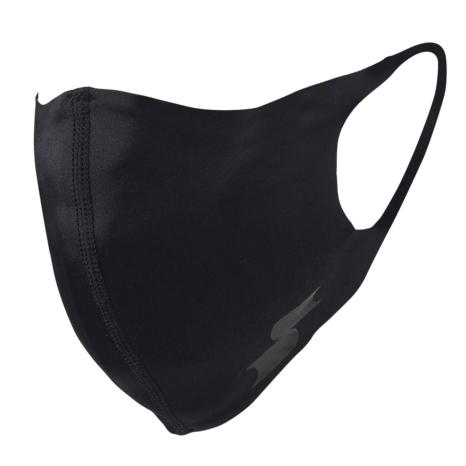 scβアンダーシャツ素材で作った洗えるスポーツマスク (一般用サイズ)ブラック