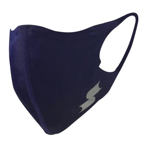 scβアンダーシャツ素材で作った洗えるスポーツ用マスク (小さめ)NEWネイビー×シルバー