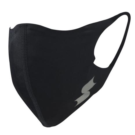 scβアンダーシャツ素材で作った洗えるスポーツ用マスク (小さめ)NEWブラック×シルバー