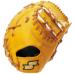 SSKBASEBALL硬式特選ミット一塁手用 ライトオレンジ×タン