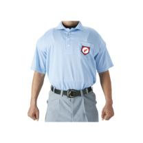 SSKBASEBALL審判用半袖ポロシャツ パウダーブルー